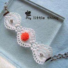 Classic Lace Flower Bracelet Flower Bracelet, Lace Flowers, Little Things, Jewelry Stores, Crochet Earrings, Angel, Classic, Bracelets, Fashion