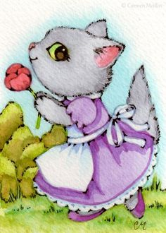 Art 'Dance with a Rose ACEO' - by Carmen Medlin from Sold Art