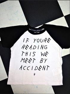 IF YOURE READING THIS WE MEET BY ACCIDENT ROUND NECK RAGLAN CROP TOP T FT. #OMIGHTY PRINTS COTTON SPANDEX BLEND ALL OVER STRETCH LIGHTWEIGHT