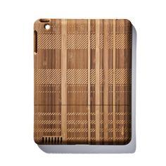 plaid bamboo ipad case ++ jonathan boos