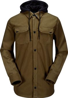 Pair this Volcom coat with skinny wax coated jeans, cuffed with some black high socks and some vans otw tan/black leather kicks, and a nice little pair of shades, and you've got fashion for days.