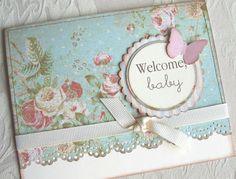 shabby chic baby card; could be a cute announcement card