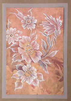 MUD 3D Texture Painted Floral Greeting Card