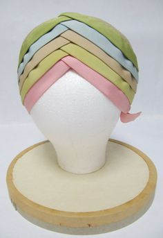 1950's Lilly Dache Young Modes Pastel Layered Turban by jamersasu, $200.00