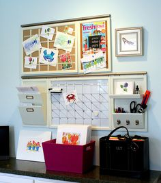 Love this pottery barn organization system for the office.