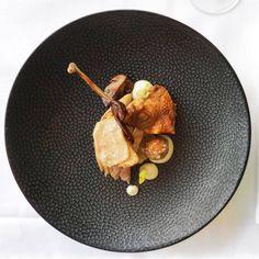 Restaurant Karpendonkse Hoeve plates up Porcini Mushrooms, Stuffed Mushrooms, Foie Gras, Partridge, Sauerkraut, Food Plating, Tasty Dishes, Seafood, Toast