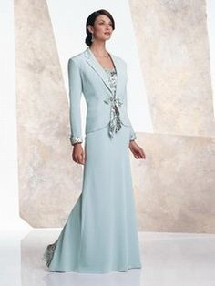 The Mother of Bride Dress Ice Blue