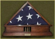 21 Gun Salute Funeral Bullet Casing Display Holder R I