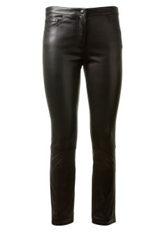 The Row Pants :: The Row black leather pants | Montaigne Market