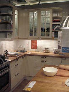 Ikea Faktum kitchen with Stat front | Keukenideeen | Pinterest ...