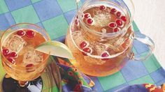 Cranberry Apple Spritzer ~ Quench your thirst with refreshing wine, fruit juice and sparkling water.
