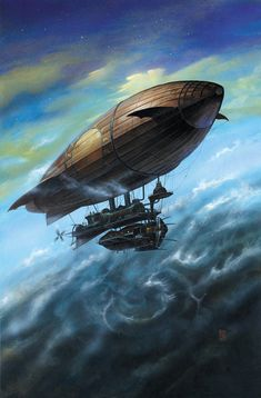 Visions of the future in Steampunk Digital & Traditional Art Design Steampunk, Steampunk Kunst, Steampunk Airship, Mode Steampunk, Dieselpunk, Sci Fi Fantasy, Fantasy World, Steampunk Illustration, Surface Modeling