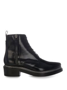 Linden Snake Con lace-up boots | Acne Studios | MATCHESFASHION.COM UK