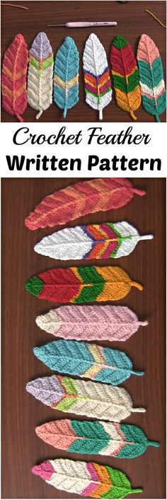 Crochet Feathers Pattern Free Tutorial All The Best Ideas Crochet Feathers Pattern Ideas Free Tutorial Reversible Feathers Crochet Tutorial - could make these into book marks after you crochet them How To Crochet Jogless Color Changes For The Perfect Croc Appliques Au Crochet, Crochet Motif, Crochet Yarn, Crochet Flowers, Crochet Stitches, Crochet Patterns, Crochet Feathers Free Pattern, Crochet Butterfly, Crochet Bookmark Patterns Free