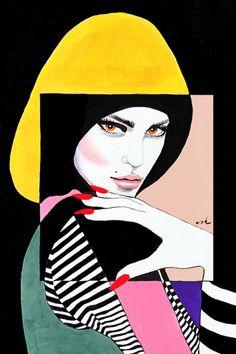 Pop Art Frau Patrick Nagel Trendy Ideas - Famous Last Words Patrick Nagel, Art And Illustration, Canvas Art, Canvas Prints, Art Prints, Portrait Art, Portraits, Wallpaper Wall, Arte Alien