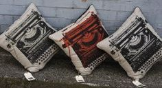 Publisher Textiles - Typewriter cushions