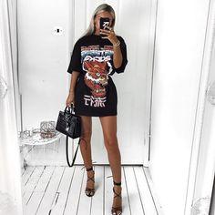 17bb934c9c2 30 Best T-shirt dress outfit images