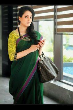 :) Cotton Blouses, Cotton Saree, Saree Collection, Bridal Collection, Blouse Styles, Blouse Designs, Saree Jewellery, Modern Saree, Indian Look
