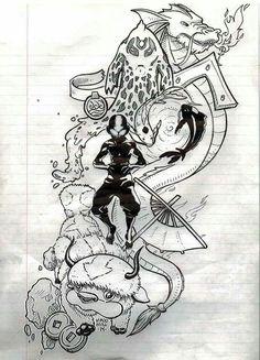Avatar inspired tattoos