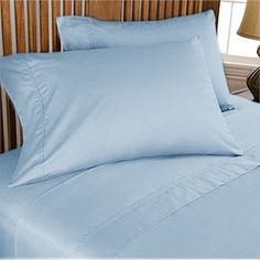 1000TC Egyptian Cotton Sky Blue Duvet Quilt Cover Set 3pc - Available in All Size
