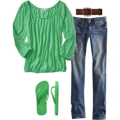 """""""OOTD 3.17 St. Paddy's Day"""" by gibbiesmom on Polyvore"""