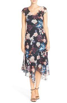 Komarov Asymmetrical Chiffon A-Line Dress available at #Nordstrom