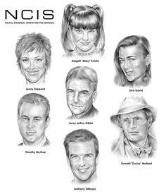 ncis | NCIS Team by *gregchapin on deviantART