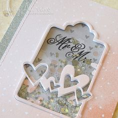 Wedding shaker card