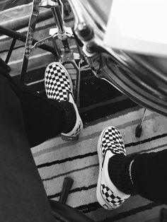 Vans classic slip-on | checkered black and white