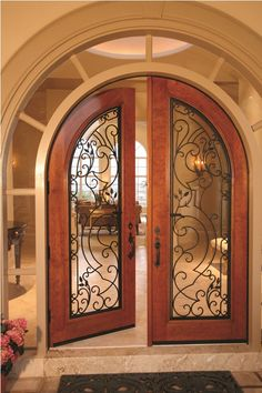 New Hotel Door Design Arches Ideas Iron Front Door, Glass Front Door, Iron Doors, Door Gate Design, Front Door Design, Door Entryway, Entry Doors, Arched Doors, Windows And Doors