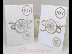 The new Large Snowflake Embossing Folder from Stampin' Up!® Silver or Gold, which is your favourite? Independent Stampin' Up! Stampin Up Christmas, Christmas 2017, Xmas, Carpe Diem, Holiday Cards, Christmas Cards, Happy New Year Cards, Christmas Crafts For Kids, Embossing Folder