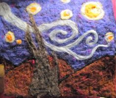 needle felted van gogh | Sprout 'n' Wings Farm: More Needle Felted Pictures