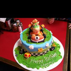 Cake I made for a Mario Kart Party today... All made from MM Fondant!