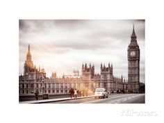 Palace of Westminster and Big Ben - Westminster Bridge - London - England - United Kingdom Photographic Print by Philippe Hugonnard at AllPosters.com
