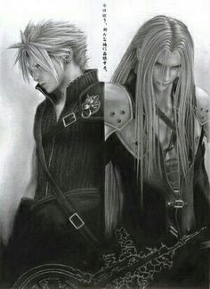 Cloud and Sephiroth