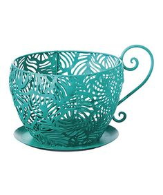 Another great find on #zulily! Peacock Teacup Planter #zulilyfinds