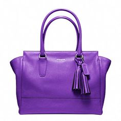 Purple Coach Bag - love this color.  I have this bag and it's so much nicer in person.  Not nearly as bright.
