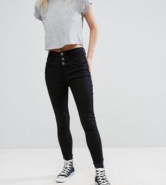 New Look Petite High Waist Skinny Jean - Black