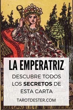 La Emperatriz es una de las cartas de Tarot con más luz. Es el III Arcano Mayor. Descubre todos los secretos y significados pulsando la imagen. Tarot Significado, Witchcraft, Comic Books, Education, Comics, Movie Posters, Tarot Reading, Tarot Card Art, Tarot Decks