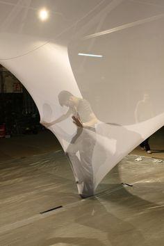 Rauminstallation Supervario, fabrics Nebel