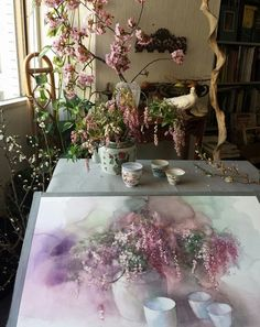 Yuko Nagayama. It's fun to see the subject along with the painting.