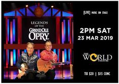 World Theatre Charters Towers: Legends of THE GRAND OLD OPRY [LIVE on stage] Songs Everyone Knows, World Theatre, Bluegrass Music, Grand Ole Opry, Willie Nelson, Johnny Cash, Towers, Live Music, Country Music
