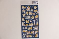 Shibainu Sticker Sheet | Dog Sticker Sheet | Animal Sticker Sheet - journaling, Letter Writing, Scrapbook - 78862