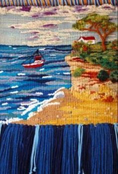 temporal de poniente tapiz lanas teñidas manualmente tapiz de alto lizo