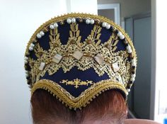 Renaissance, Tudor, Elizabethan, French Hood, Pointed Base & Jeweled Billiments - MADE TO ORDER