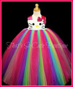 Hello Kitty Tutu Dress, Cat Costume, Birthday tutu dress