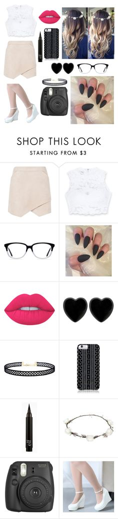"""""""Cute or nah"""" by parismarion ❤ liked on Polyvore featuring BCBGMAXAZRIA, Bebe, Ace, Lime Crime, Dollydagger, LULUS, Savannah Hayes, Lipsy and Fujifilm"""