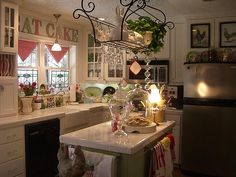 I love Tina's kitchen over at Cherry Hill Cottage