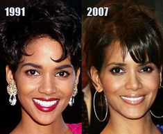 Halle Berry Before Fame | Halle Berry before and after Hate plastic surgery and injections ...