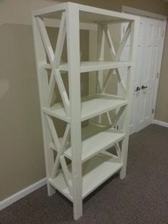 X Bookcase DIY